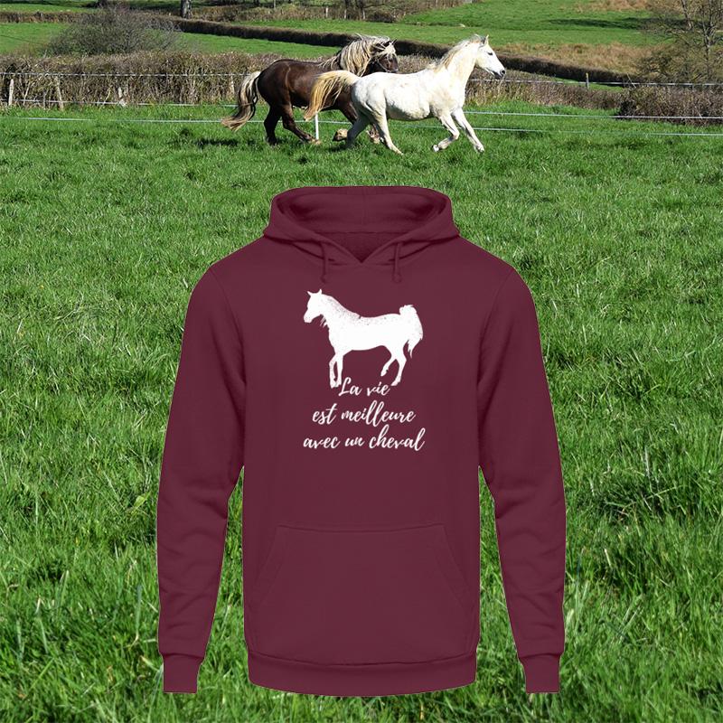 La vie est meilleure avec un cheval - Life is better with a horse.